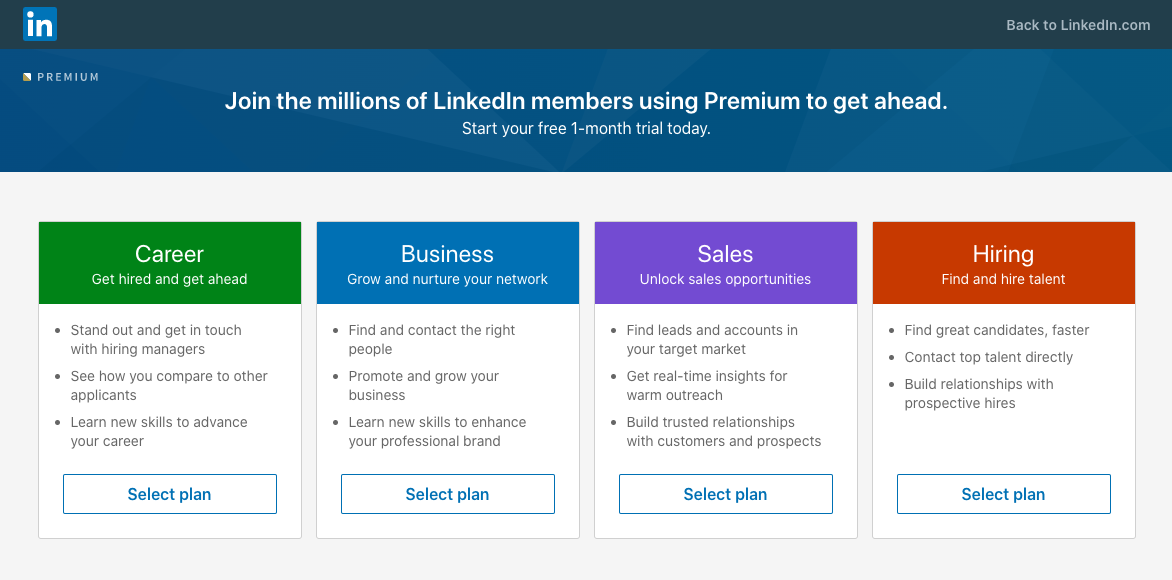 Linkedin premium pricing india